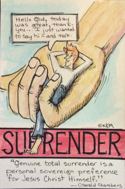 Surrender--lay back in God's hands for EVERYTHING.  Relax